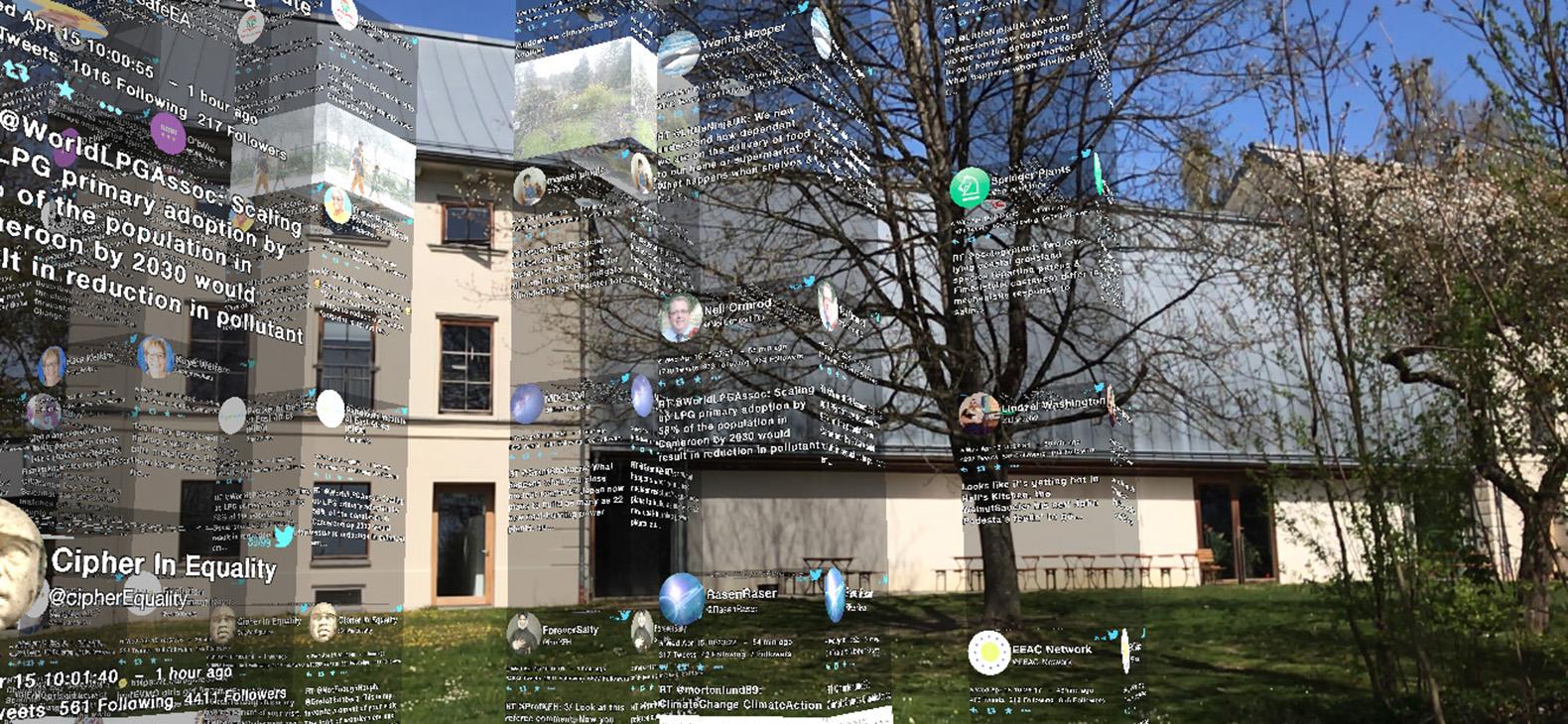 10.000 Moving Cities - Same but Different, AR Marc Lee in Kooperation mit dem Lehrstuhl für SensorAktorSysteme (ISAS) am Karlsruher Institut für Technologie (KIT). App für Smartphones und Tablets.