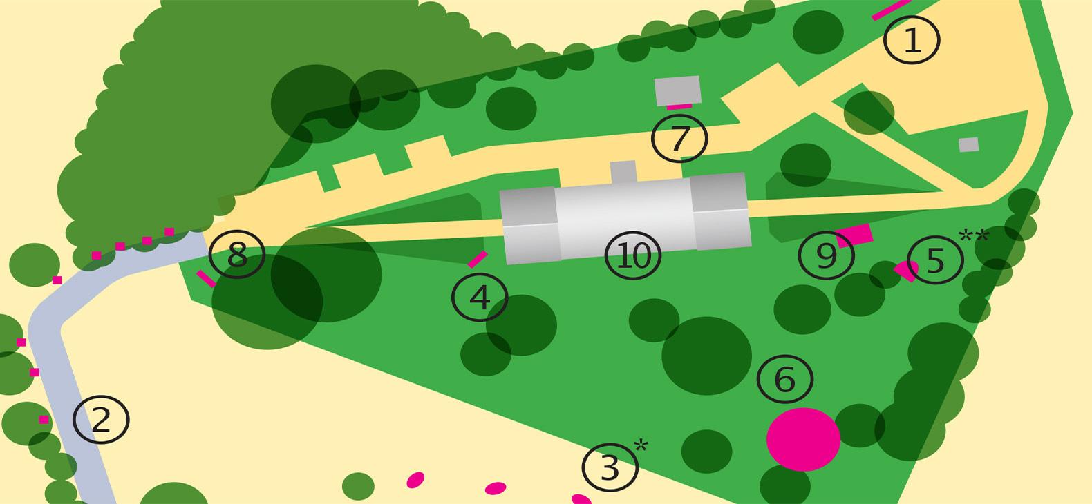 Skulpturengarten 2020 Karte