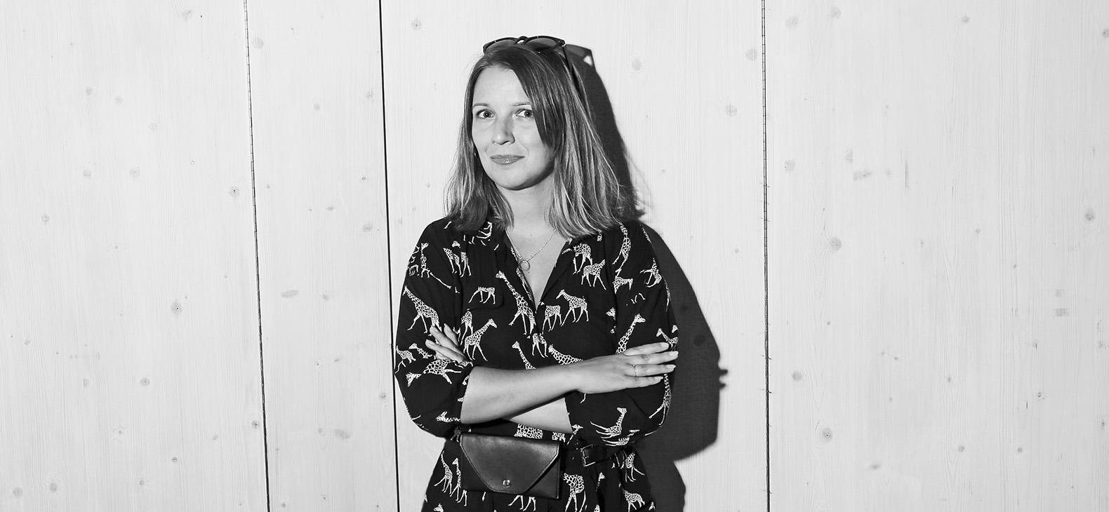 Portrait der Künstlerin Andrea Juneková, Stipendiatin aus Bratislava im Schafhof in Freising im Rahmen des Europäischen Kunststipendiums des Bezirks Oberbayern 2021