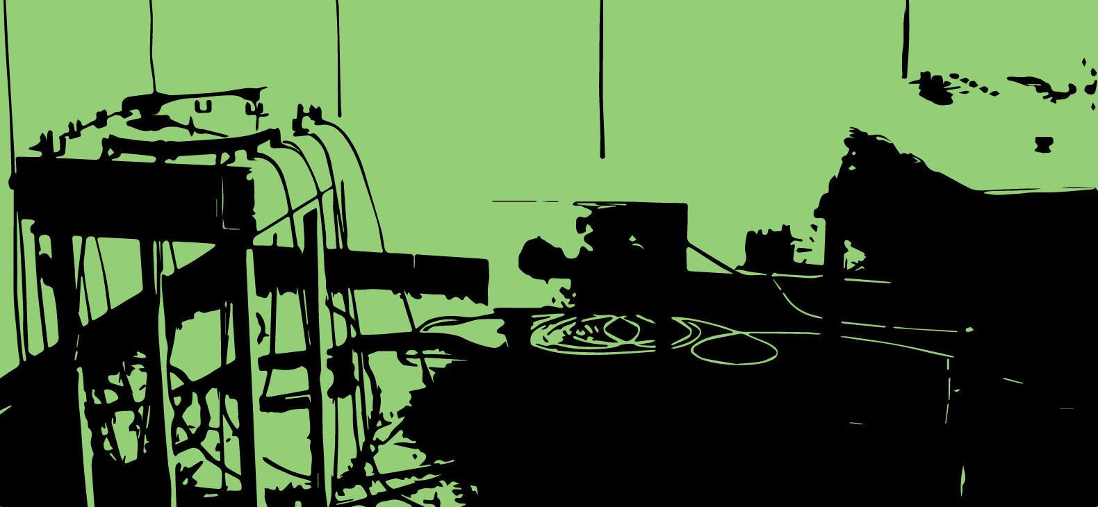 Steven Tevels: Solanum Tuberosum Sound Synthesis, Ausstellung im Schafhof, 2017