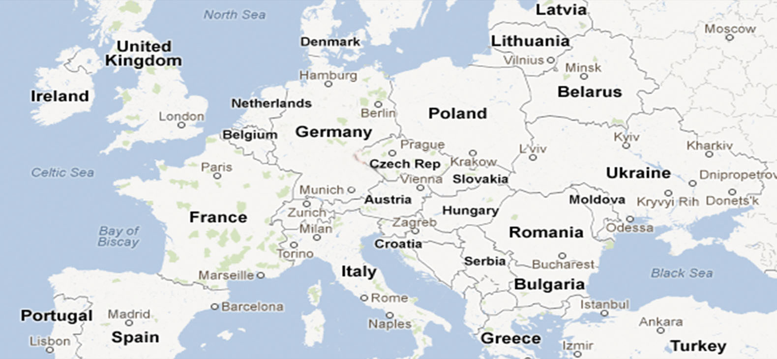 Europakarte Künstleraustausch