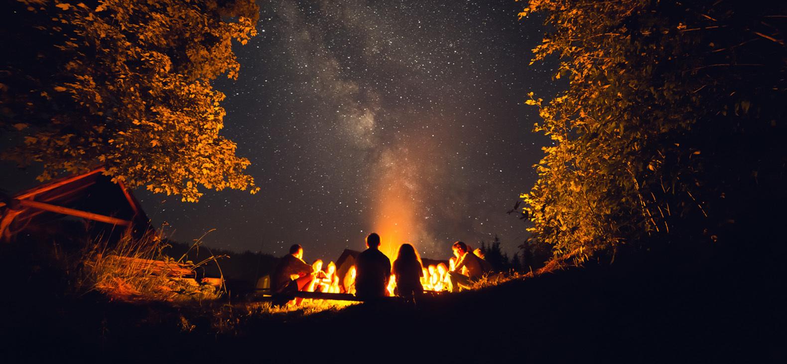 Bonfire light