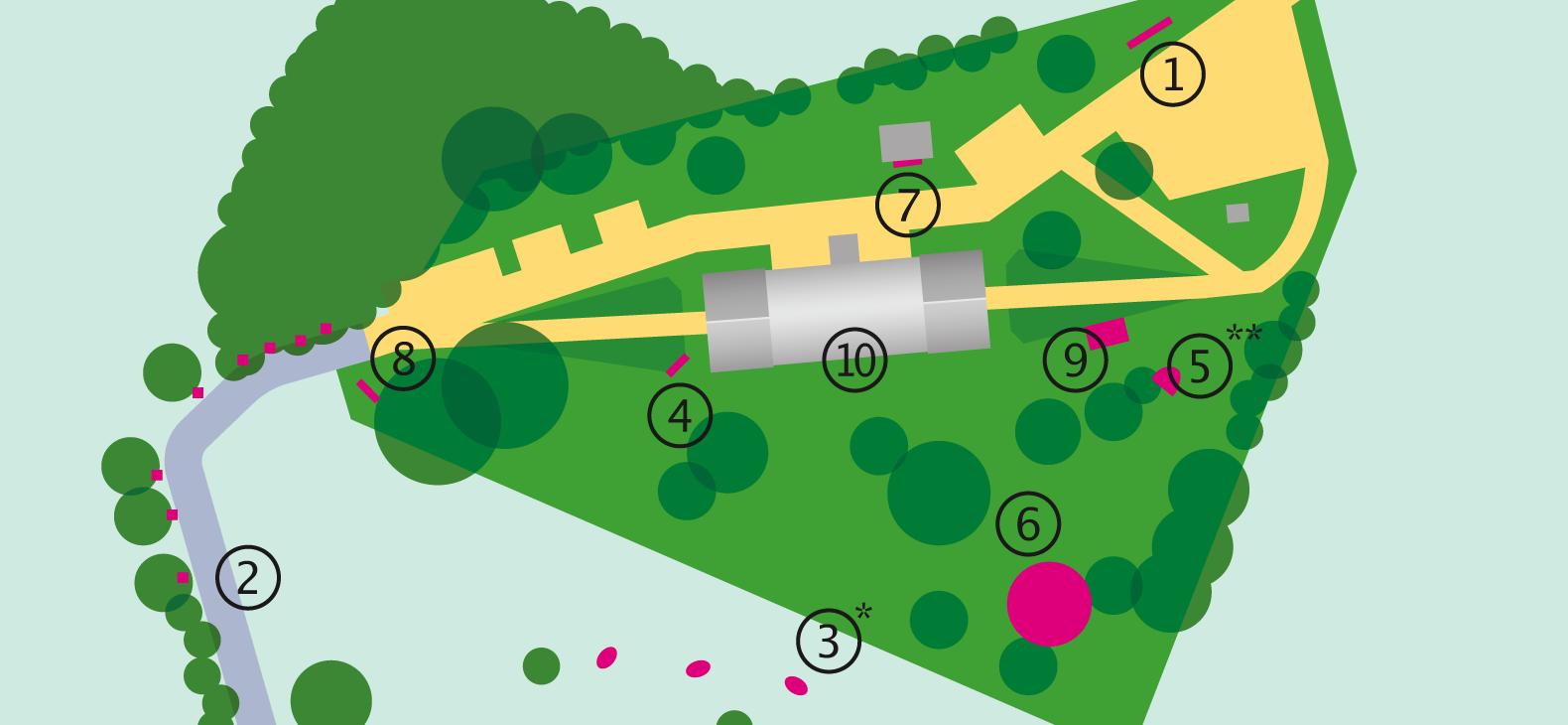 Skulpturengarten Karte