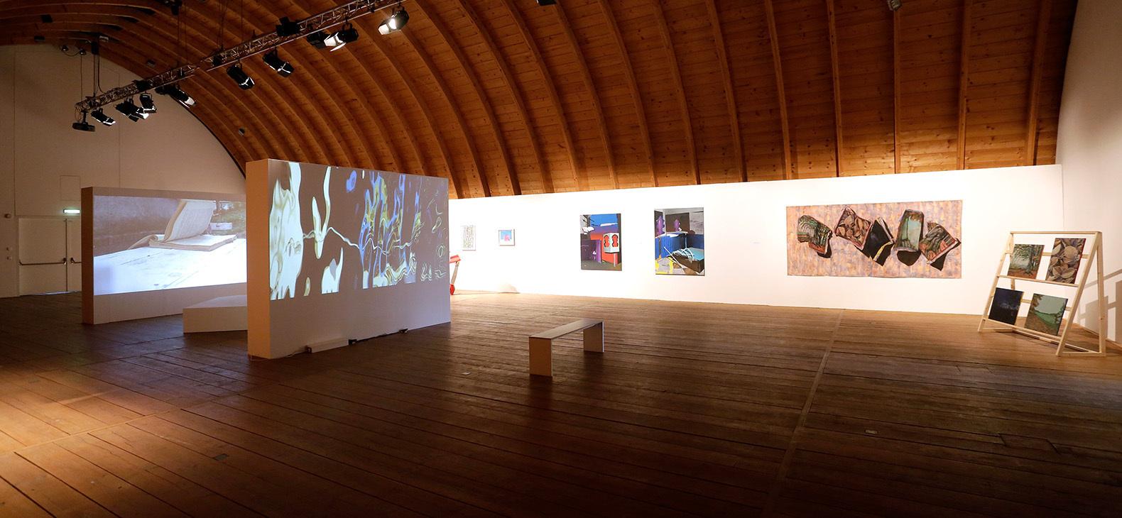 Ausstellung Fokus Europa I - Blick ins Tonnengewölbe