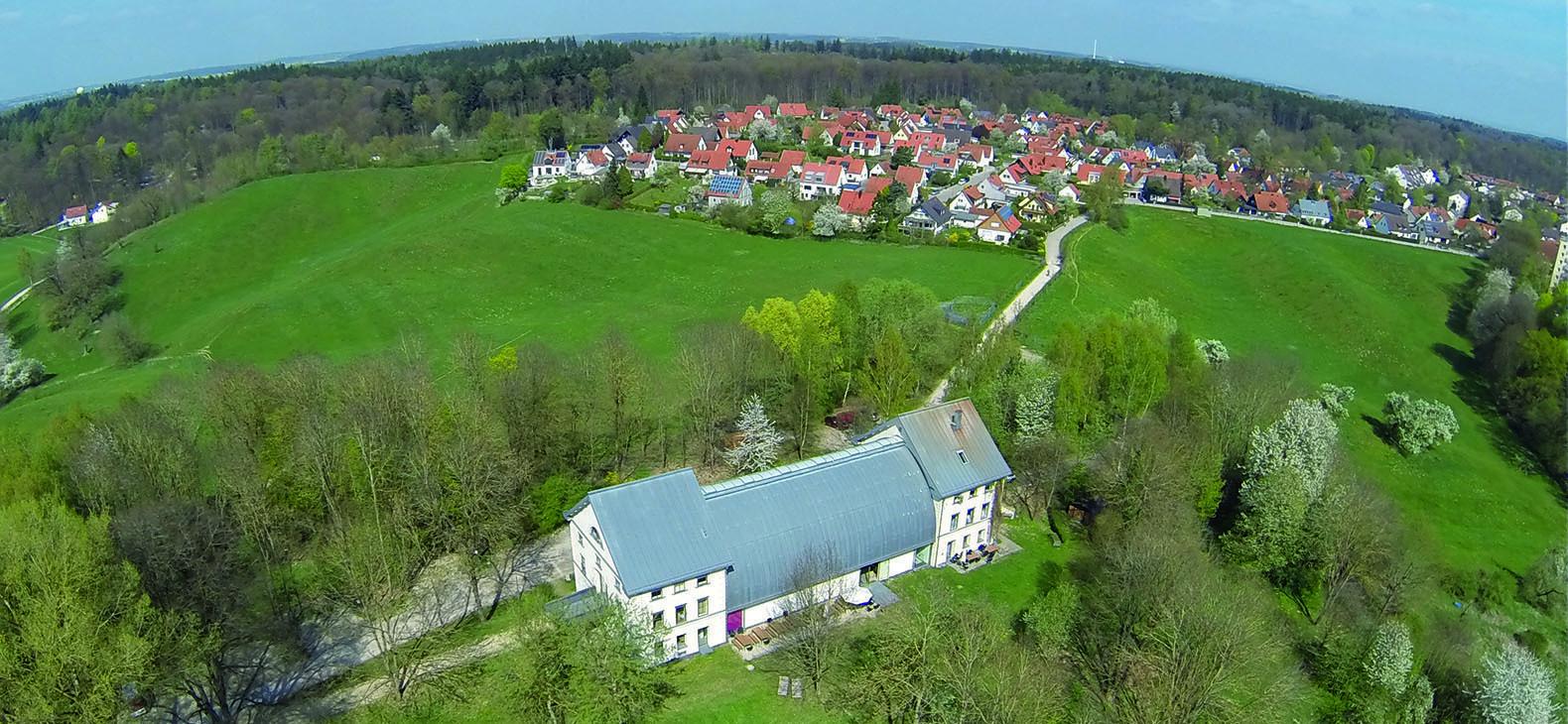 Schafhof - Europäisches Künstlerhaus Oberbayern - Luftbild
